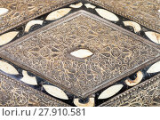 Купить «inlay and ornament on cover of arabic Casket», фото № 27910581, снято 16 октября 2018 г. (c) PantherMedia / Фотобанк Лори