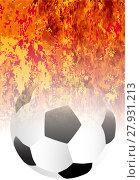 Купить «Roaring Flaming Soccer Ball», фото № 27931213, снято 24 марта 2019 г. (c) PantherMedia / Фотобанк Лори