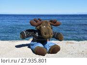 Купить «moose,coast,shore,sea,wharf,wall,water,stuffed animal», фото № 27935801, снято 22 октября 2018 г. (c) PantherMedia / Фотобанк Лори
