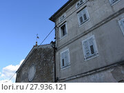 Купить «motovun,montona,city,residential building,josef ressel,propeller,inscription,commemorative plaque», фото № 27936121, снято 22 октября 2018 г. (c) PantherMedia / Фотобанк Лори