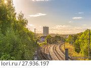 Купить «Railways under the afternoon sun», фото № 27936197, снято 20 августа 2019 г. (c) PantherMedia / Фотобанк Лори