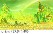 Купить «Чужая планета. Скалы и озеро. Анимация. Панорама. 4К», видеоролик № 27944405, снято 17 февраля 2018 г. (c) Parmenov Pavel / Фотобанк Лори