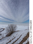 Купить «winter snow sea coast Baltic Sea Latvia Saulkrasti», фото № 27944689, снято 26 июня 2019 г. (c) PantherMedia / Фотобанк Лори