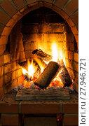 Купить «fire in fire-box of fireplace», фото № 27946721, снято 26 марта 2019 г. (c) PantherMedia / Фотобанк Лори