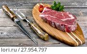 Купить «Fresh Rib Eye Steak.», фото № 27954797, снято 21 июня 2018 г. (c) PantherMedia / Фотобанк Лори