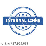 Купить «Internal Links Stamp», фото № 27955689, снято 15 октября 2018 г. (c) PantherMedia / Фотобанк Лори