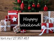 Купить «Colorful Christmas Tree, Text Happy Weekend», фото № 27957457, снято 29 мая 2020 г. (c) PantherMedia / Фотобанк Лори
