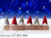 Купить «Gnomes, Blue Bokeh, Stars, Neues Jahr Means Happy New Year», фото № 27957489, снято 25 апреля 2019 г. (c) PantherMedia / Фотобанк Лори