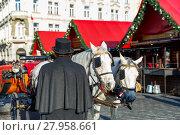 Купить «Horse carriage on Old Town Square of Prague», фото № 27958661, снято 15 ноября 2018 г. (c) PantherMedia / Фотобанк Лори