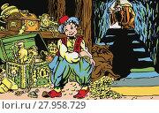 Купить «An Illustration on the motive a fairy tale Aladdin and His Wonderful Lamp.», фото № 27958729, снято 28 мая 2018 г. (c) PantherMedia / Фотобанк Лори