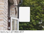 Купить «Empty outdoor signage mockup», фото № 27960477, снято 19 сентября 2019 г. (c) PantherMedia / Фотобанк Лори