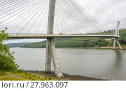 Купить «terenez bridge in brittany», фото № 27963097, снято 20 августа 2019 г. (c) PantherMedia / Фотобанк Лори