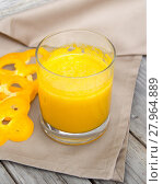 Купить «Fresh yellow paprika smoothie juice», фото № 27964889, снято 27 апреля 2018 г. (c) PantherMedia / Фотобанк Лори