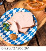 Купить «bavarian meatloaf with sweetly mustard», фото № 27966261, снято 14 ноября 2018 г. (c) PantherMedia / Фотобанк Лори