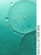 Купить «Green abstract of oil droplet.», фото № 27968429, снято 20 апреля 2018 г. (c) PantherMedia / Фотобанк Лори