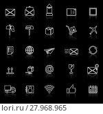 Купить «vector icons on color background», иллюстрация № 27968965 (c) PantherMedia / Фотобанк Лори