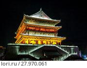 Купить «Xian drum tower», фото № 27970061, снято 10 июля 2020 г. (c) PantherMedia / Фотобанк Лори
