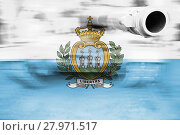Купить «military strength theme,motion blur tank with san marino flag», фото № 27971517, снято 13 ноября 2018 г. (c) PantherMedia / Фотобанк Лори