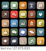 Купить «Economy flat icons with long shadow», иллюстрация № 27973033 (c) PantherMedia / Фотобанк Лори