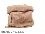 Купить «empty burlap bag or sack», фото № 27973537, снято 20 октября 2018 г. (c) PantherMedia / Фотобанк Лори