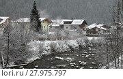 Купить «Mounting skiing resort Mayrhofen, Austria», видеоролик № 27975797, снято 9 марта 2015 г. (c) Алексей Кузнецов / Фотобанк Лори