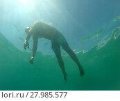 Купить «Drowning man», фото № 27985577, снято 15 октября 2018 г. (c) PantherMedia / Фотобанк Лори