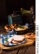 Купить «Bavarian meatloaf with sweetly senf», фото № 27986861, снято 14 ноября 2018 г. (c) PantherMedia / Фотобанк Лори