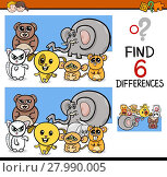 Купить «differences game with animals», иллюстрация № 27990005 (c) PantherMedia / Фотобанк Лори