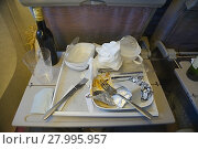 Купить «Airline food consumed», фото № 27995957, снято 25 марта 2019 г. (c) PantherMedia / Фотобанк Лори