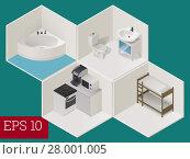 Купить «interior room isometric vector illustration», фото № 28001005, снято 26 мая 2018 г. (c) PantherMedia / Фотобанк Лори