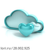 Купить «Cloud with hearts. Favorite storage 3D computer icon», фото № 28002925, снято 19 февраля 2018 г. (c) PantherMedia / Фотобанк Лори