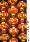 Купить «Red Chinese paper lanterns», фото № 28002941, снято 22 апреля 2019 г. (c) PantherMedia / Фотобанк Лори
