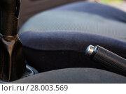 Купить «Car parking brake», фото № 28003569, снято 21 января 2019 г. (c) PantherMedia / Фотобанк Лори