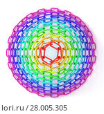 Купить «Colorful concentric circles made of chain», фото № 28005305, снято 18 октября 2018 г. (c) PantherMedia / Фотобанк Лори