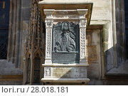 Купить «vienna,st. stephen's cathedral,relief,memorial stone,commemorative plaque,church,1st district,church», фото № 28018181, снято 22 октября 2018 г. (c) PantherMedia / Фотобанк Лори