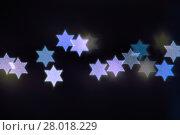 Купить «Star of David lights for Hanukkah», фото № 28018229, снято 24 мая 2018 г. (c) PantherMedia / Фотобанк Лори