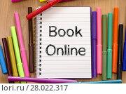 Купить «Book online text concept», фото № 28022317, снято 17 ноября 2018 г. (c) PantherMedia / Фотобанк Лори