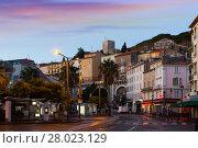 Купить «Streets of Cannes in the evening in France», фото № 28023129, снято 3 декабря 2017 г. (c) Яков Филимонов / Фотобанк Лори