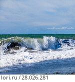 Купить «Background waves of the sea.  Beautiful waves», фото № 28026281, снято 17 января 2019 г. (c) PantherMedia / Фотобанк Лори