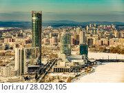 Купить «Екатеринбург. Красивый городской пейзаж», фото № 28029105, снято 19 августа 2018 г. (c) Сергеев Валерий / Фотобанк Лори
