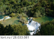 Купить «krka waterfalls in croatia», фото № 28033081, снято 17 января 2019 г. (c) PantherMedia / Фотобанк Лори