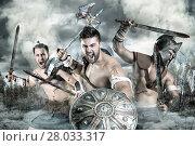 Купить «Gladiators/Warriors», фото № 28033317, снято 13 ноября 2018 г. (c) PantherMedia / Фотобанк Лори