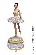 Купить «3D Rendering Ballerina», фото № 28035081, снято 23 апреля 2018 г. (c) PantherMedia / Фотобанк Лори