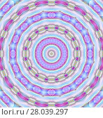 Купить «Abstract geometric seamless background.  Concentric circle ornament in pink, violet, light blue and purple shades, delicate and dreamy.», фото № 28039297, снято 18 октября 2018 г. (c) PantherMedia / Фотобанк Лори