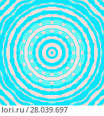 Купить «Abstract geometric seamless background. Regular concentric circle ornament pink, turquoise and aquamarine.», фото № 28039697, снято 21 марта 2018 г. (c) PantherMedia / Фотобанк Лори