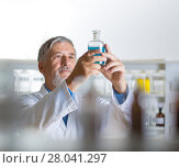 Купить «Senior male researcher carrying out scientific research in a lab», фото № 28041297, снято 27 апреля 2018 г. (c) PantherMedia / Фотобанк Лори