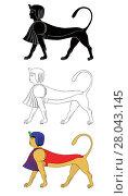 Купить «Sphinx - mythical creatures of ancient Egypt», иллюстрация № 28043145 (c) PantherMedia / Фотобанк Лори