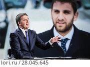 Купить «Secretary of Democratic party Matteo Renzi Rome, ITALY-18/02/2018.», фото № 28045645, снято 18 февраля 2018 г. (c) age Fotostock / Фотобанк Лори