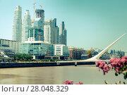 Купить «Business centers in riverfront area», фото № 28048329, снято 27 января 2017 г. (c) Яков Филимонов / Фотобанк Лори