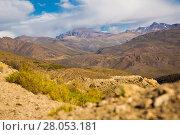Купить «View of Andes mountains, Valle Hermoso», фото № 28053181, снято 9 февраля 2017 г. (c) Яков Филимонов / Фотобанк Лори